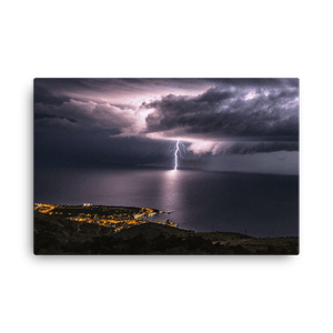Lightning strikes near Senj in Croatia by Gregor Vojščak