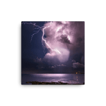 Load image into Gallery viewer, Positive lightning from isolated storm over Adriatic by Gregor Vojščak