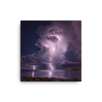 Load image into Gallery viewer, Night storm lightning show over Adriatic Sea by Gregor Vojščak