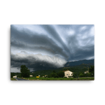 Load image into Gallery viewer, Large supercell storm with a shelf cloud by Gregor Vojščak