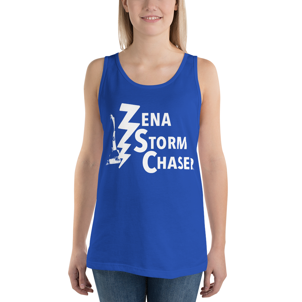 Zena Storm Chaser True Royal Blue Unisex Tank Top
