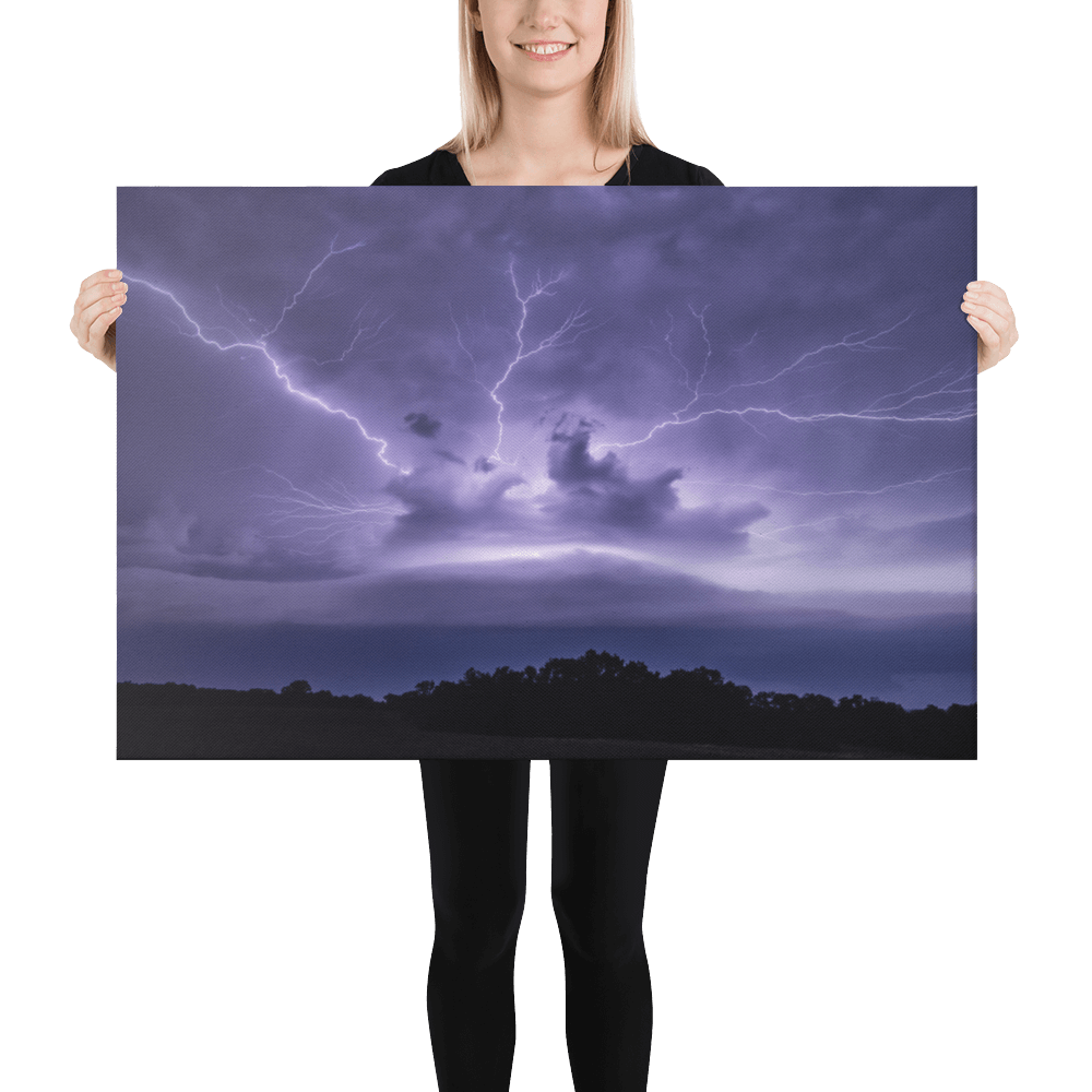 Monster shelf cloud with anvil crawlers lightning by Šimon Rogl