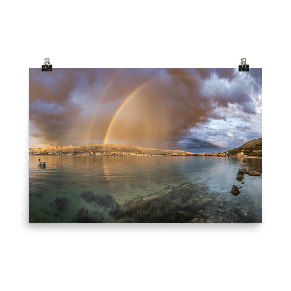 Nice rainbow over the town of Pag