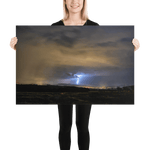 Load image into Gallery viewer, Night storm with a strong CG lightning