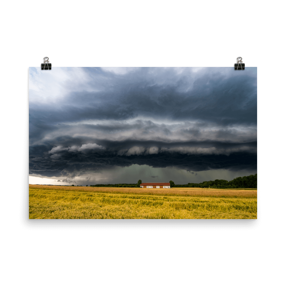 Shelf cloud in southern Germany