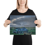 Load image into Gallery viewer, Storm and old truck at sunset
