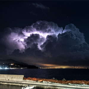Suggestive thunderstorm spectacle over Ligurian Sea  by William Demasi #2 of 4