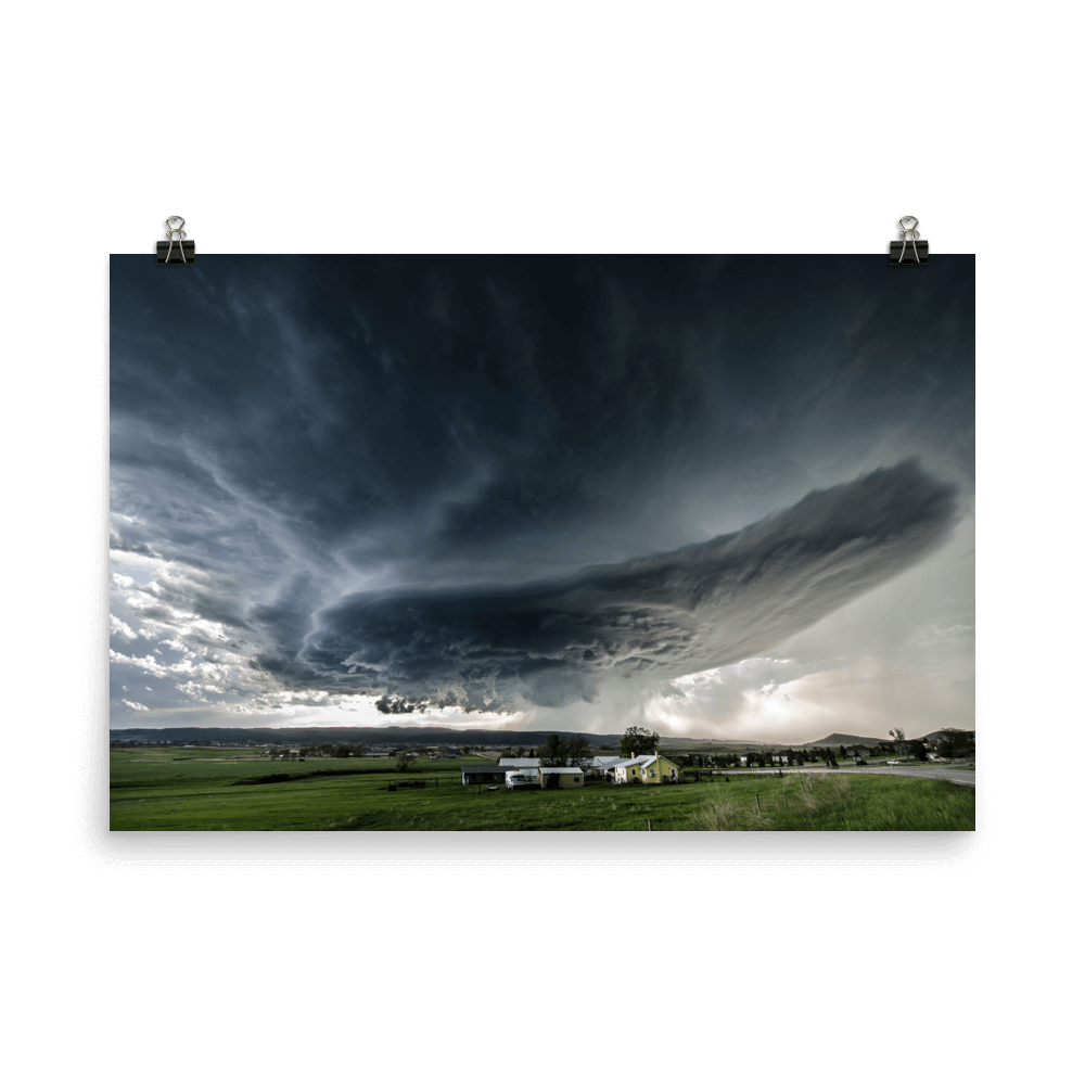 Supercell over Rapid City in South Dakota