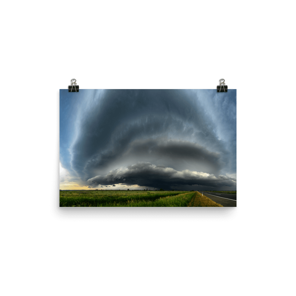 Tornadic supercell near Novska