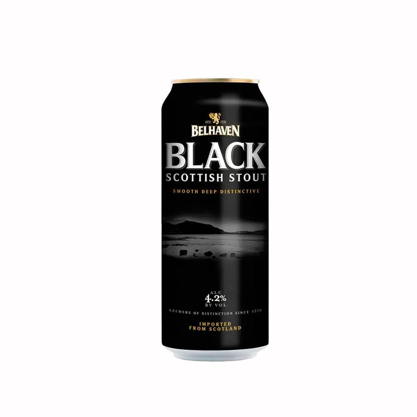 Cerveja Escocesa Belhaven Black Stout Lata 440ml