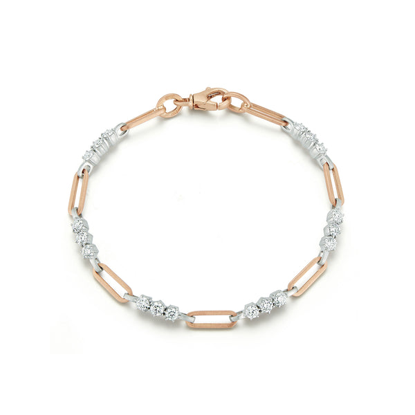 Two-Tone Pia Gold Chain Link Bracelet