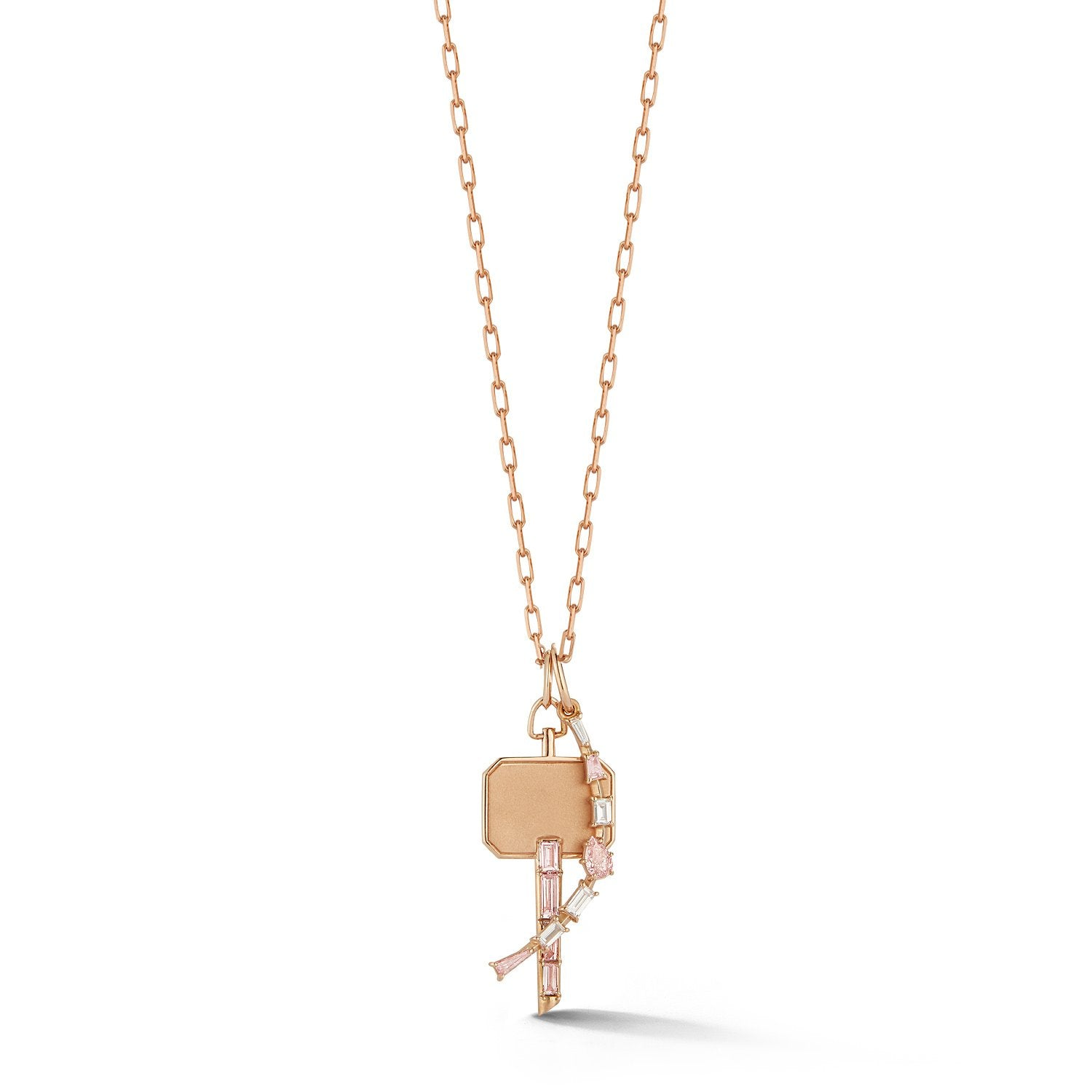 Catherine Baguette Diamond Key Charm