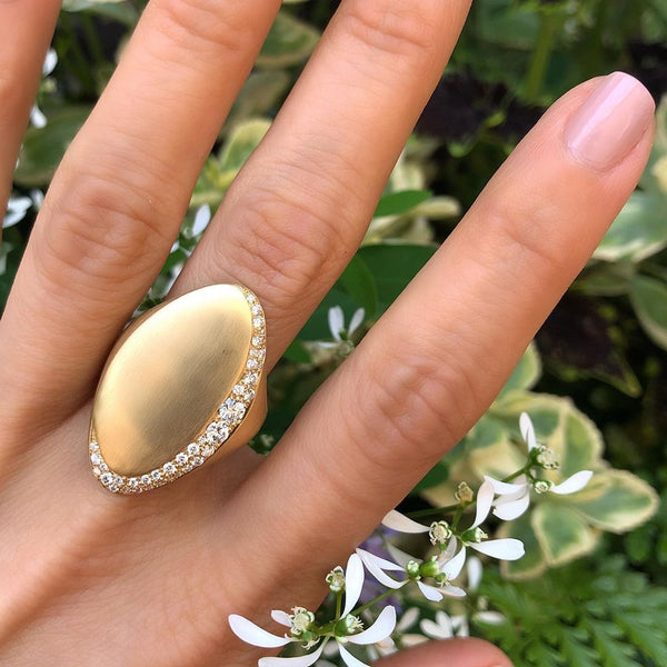 Adele Diamond Statement Ring in 18K Gold
