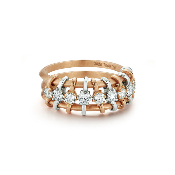 Penelope Single Row Floating Diamond Ring