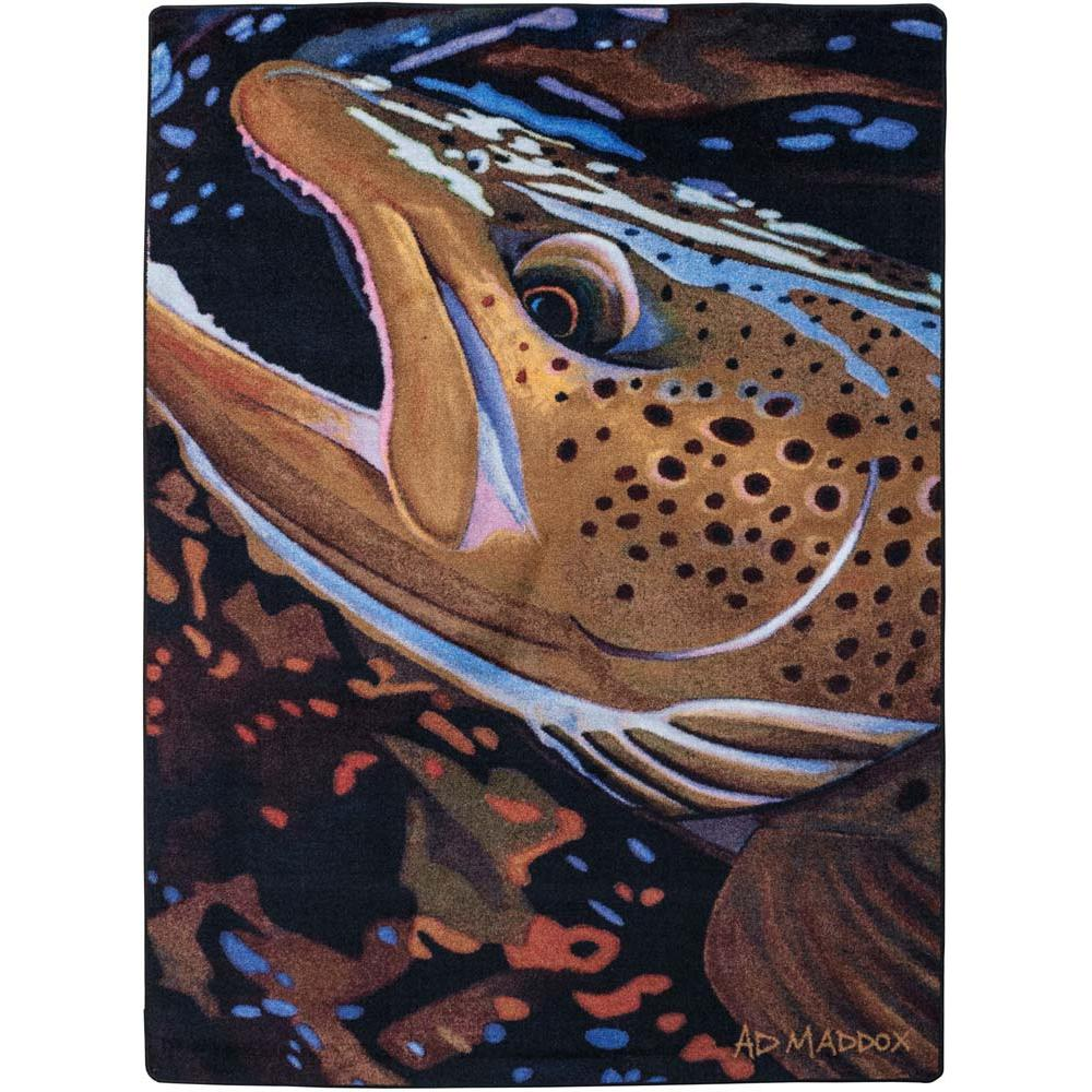 AD Trout Catch - Paint-CabinRugs Southwestern Rugs Wildlife Rugs Lodge Rugs Aztec RugsSouthwest Rugs
