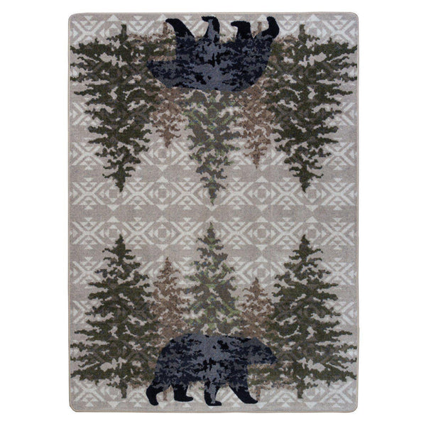 Bear Paradise - Stone-CabinRugs Southwestern Rugs Wildlife Rugs Lodge Rugs Aztec RugsSouthwest Rugs