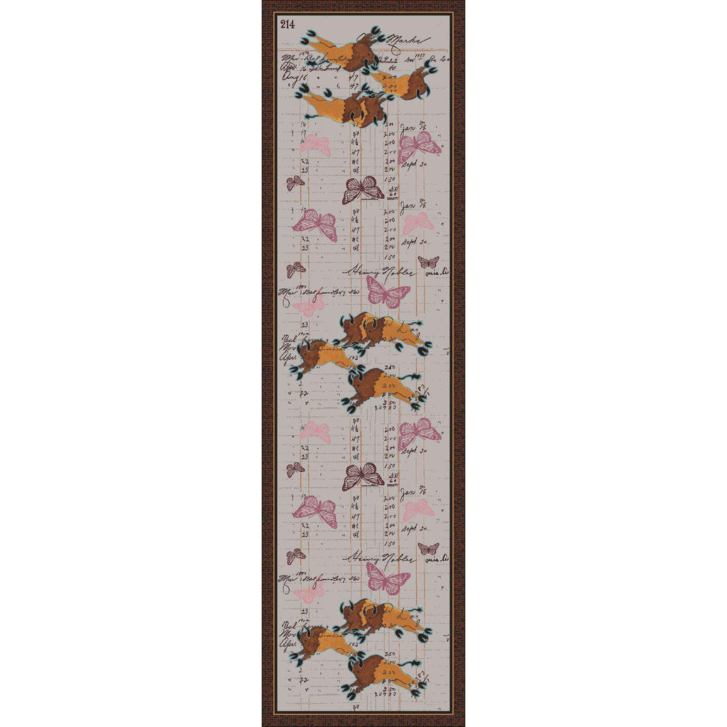 Bison Plains - Natural-CabinRugs Southwestern Rugs Wildlife Rugs Lodge Rugs Aztec RugsSouthwest Rugs