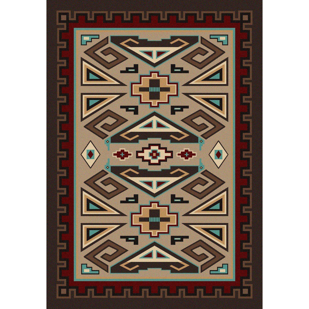 Butte Sand-CabinRugs Southwestern Rugs Wildlife Rugs Lodge Rugs Aztec RugsSouthwest Rugs