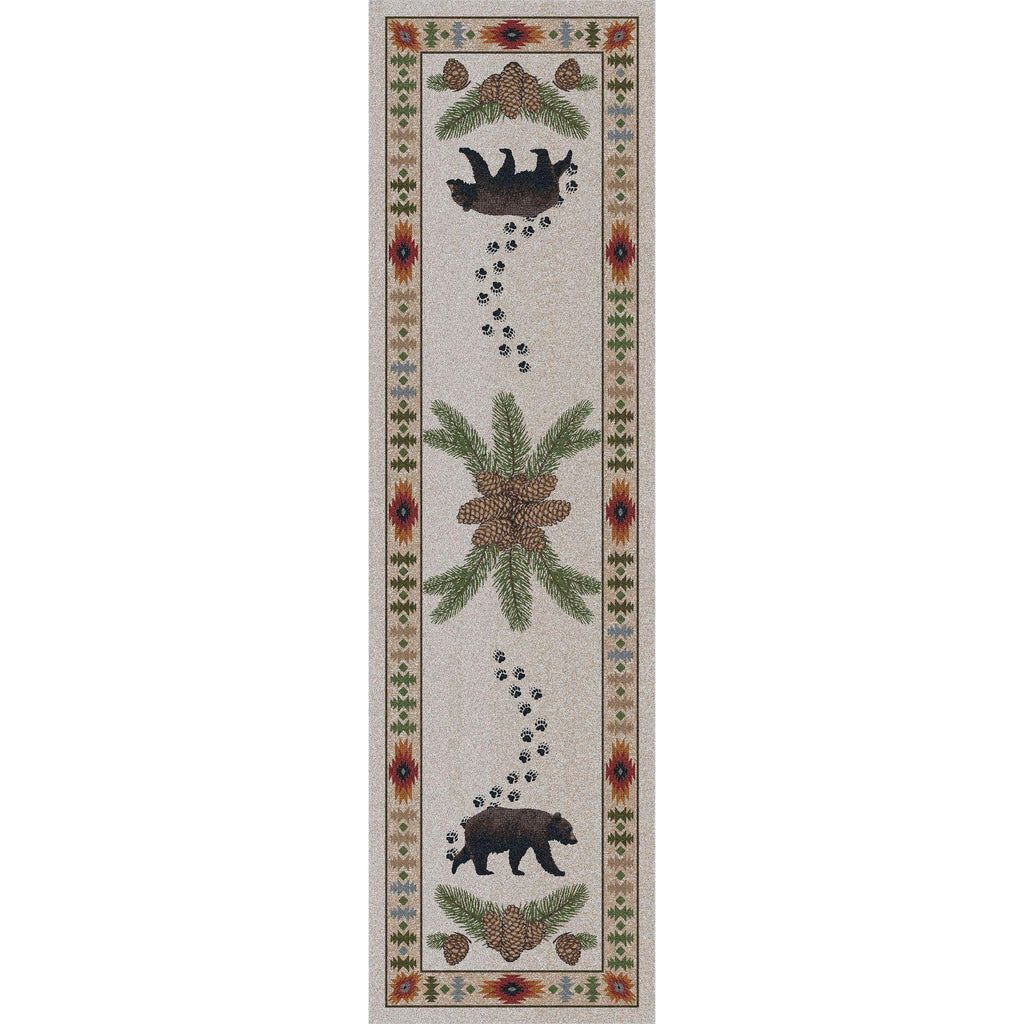 Camp Bear Valley - Natural-CabinRugs Southwestern Rugs Wildlife Rugs Lodge Rugs Aztec RugsSouthwest Rugs