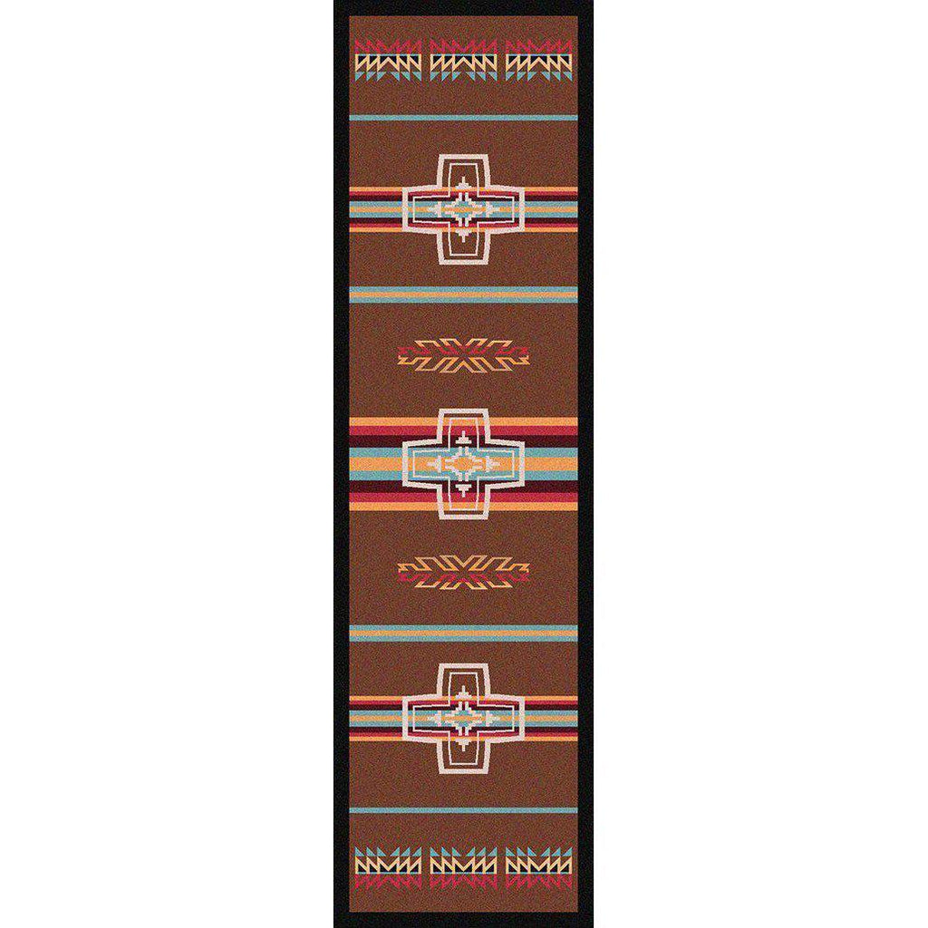 Canyon Crucifix - Sunset-CabinRugs Southwestern Rugs Wildlife Rugs Lodge Rugs Aztec RugsSouthwest Rugs