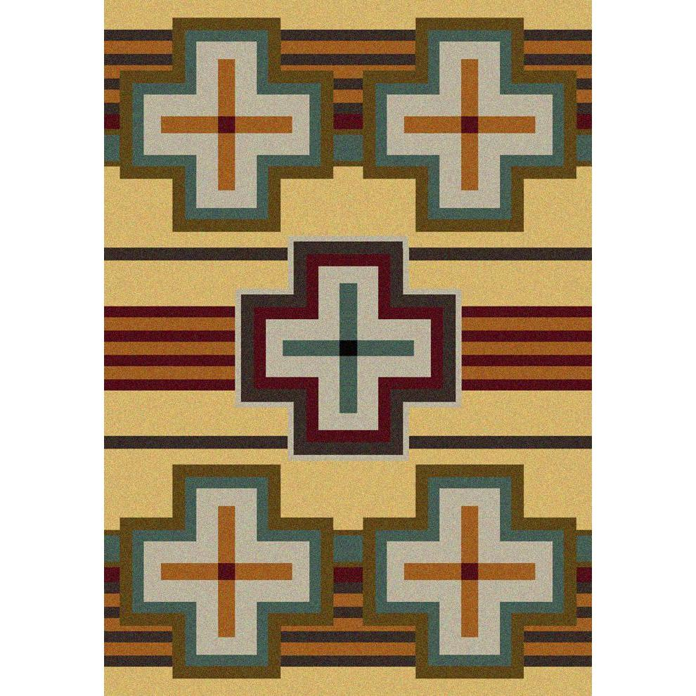 Cazador - Maize-CabinRugs Southwestern Rugs Wildlife Rugs Lodge Rugs Aztec RugsSouthwest Rugs