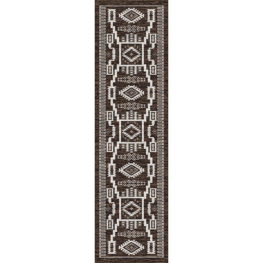 Cloud Stories - Chocolate-CabinRugs Southwestern Rugs Wildlife Rugs Lodge Rugs Aztec RugsSouthwest Rugs