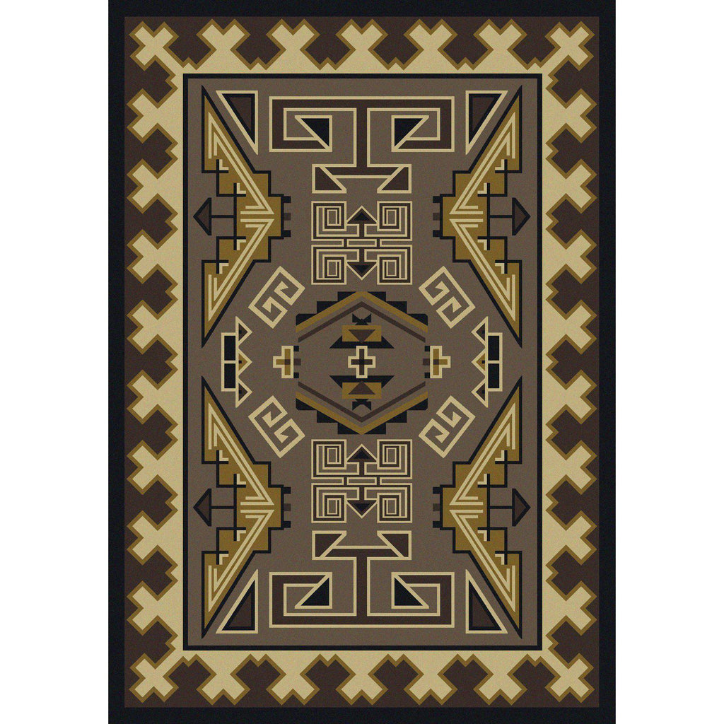 Comfy Trader - Sand-CabinRugs Southwestern Rugs Wildlife Rugs Lodge Rugs Aztec RugsSouthwest Rugs