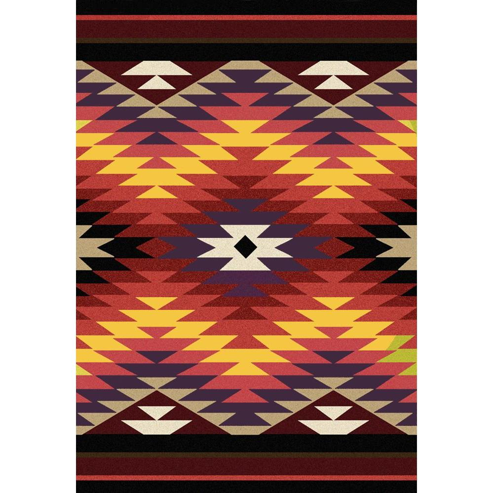 Cosmic Burst - Bright-CabinRugs Southwestern Rugs Wildlife Rugs Lodge Rugs Aztec RugsSouthwest Rugs