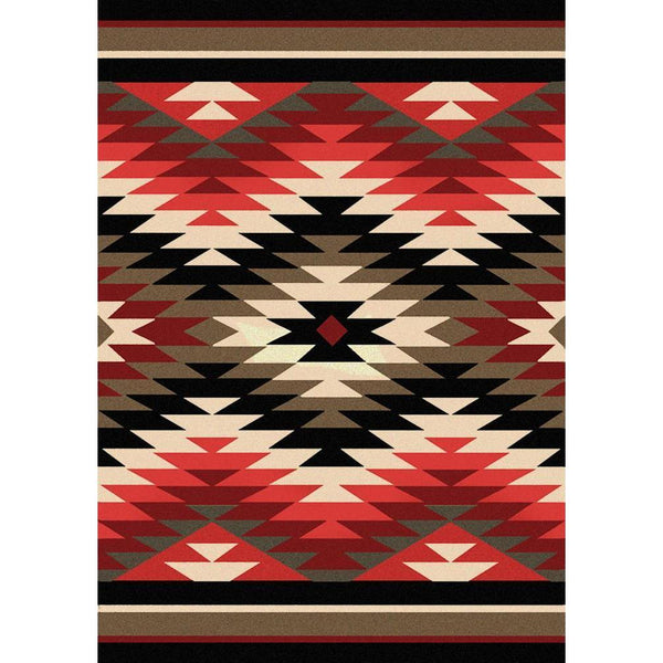Cosmic Burst - Original-CabinRugs Southwestern Rugs Wildlife Rugs Lodge Rugs Aztec RugsSouthwest Rugs