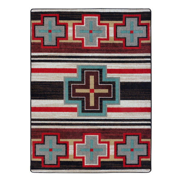 Crucifix Roads - Fuego-CabinRugs Southwestern Rugs Wildlife Rugs Lodge Rugs Aztec RugsSouthwest Rugs