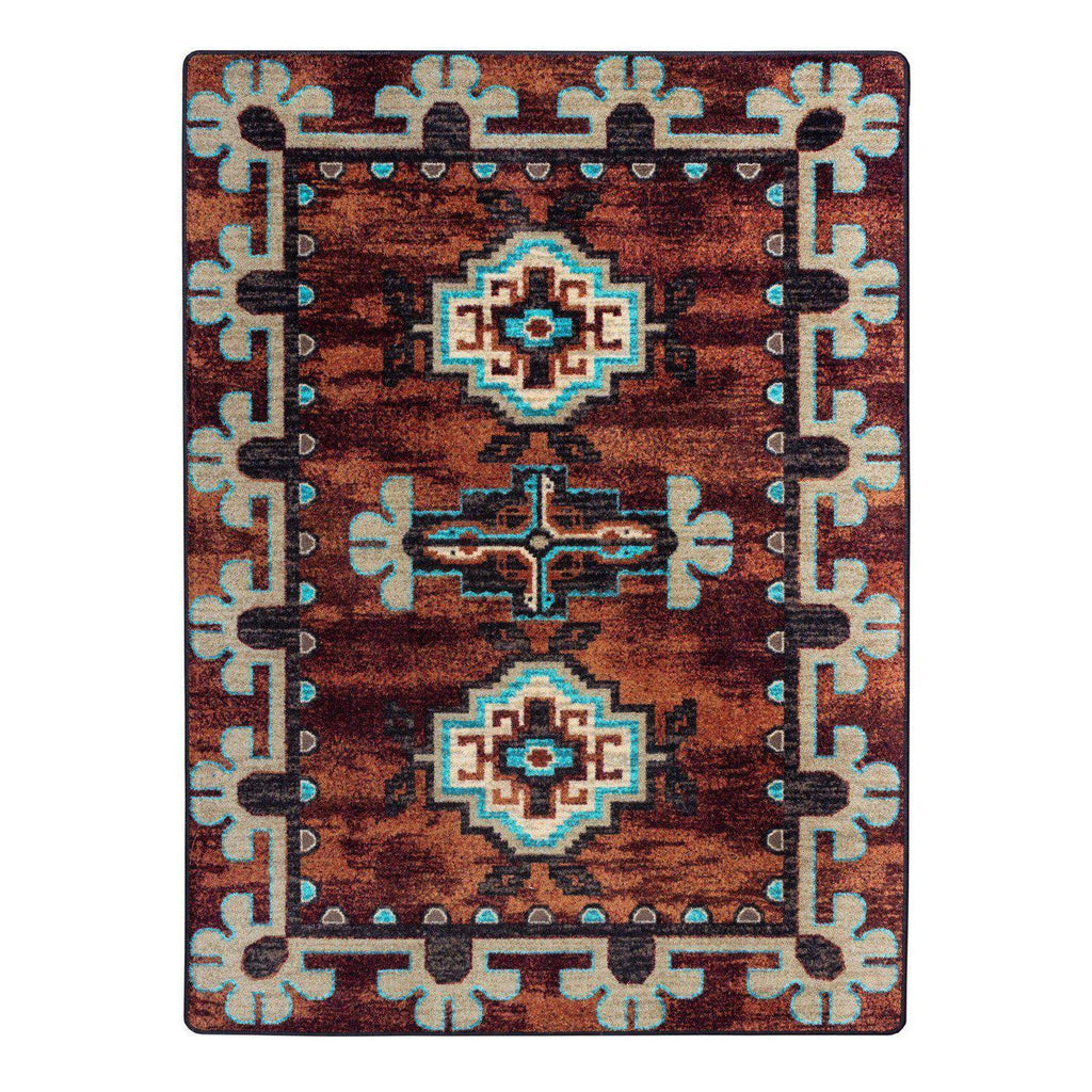 Death Valley - Rust-CabinRugs Southwestern Rugs Wildlife Rugs Lodge Rugs Aztec RugsSouthwest Rugs