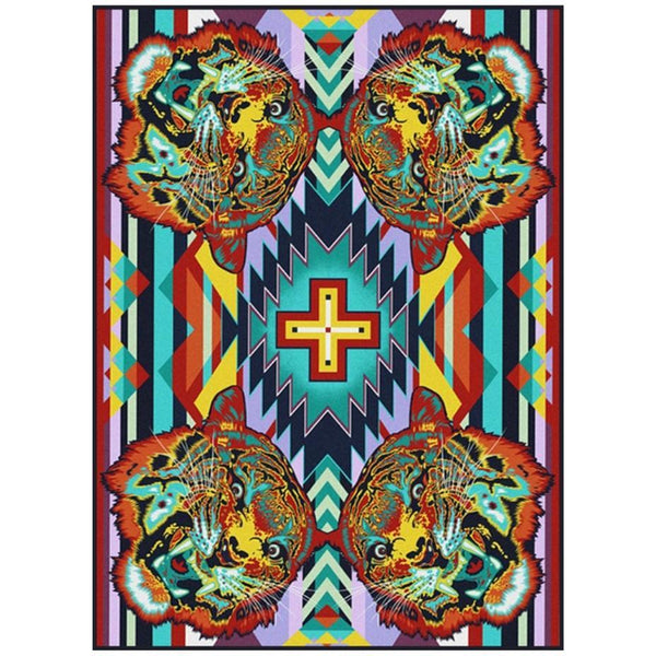 Desert Roar- Bright-CabinRugs Southwestern Rugs Wildlife Rugs Lodge Rugs Aztec RugsSouthwest Rugs