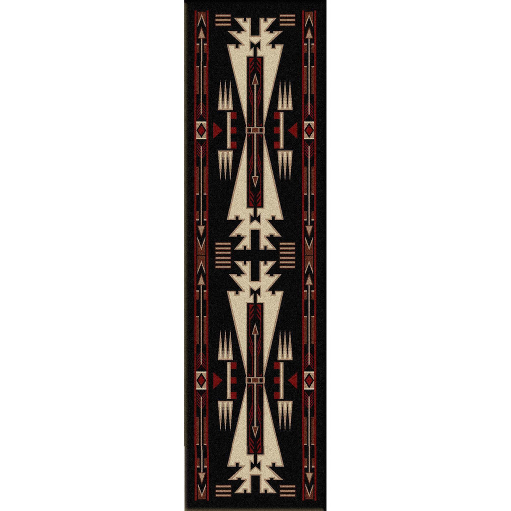 Desert Vandals - Black-CabinRugs Southwestern Rugs Wildlife Rugs Lodge Rugs Aztec RugsSouthwest Rugs