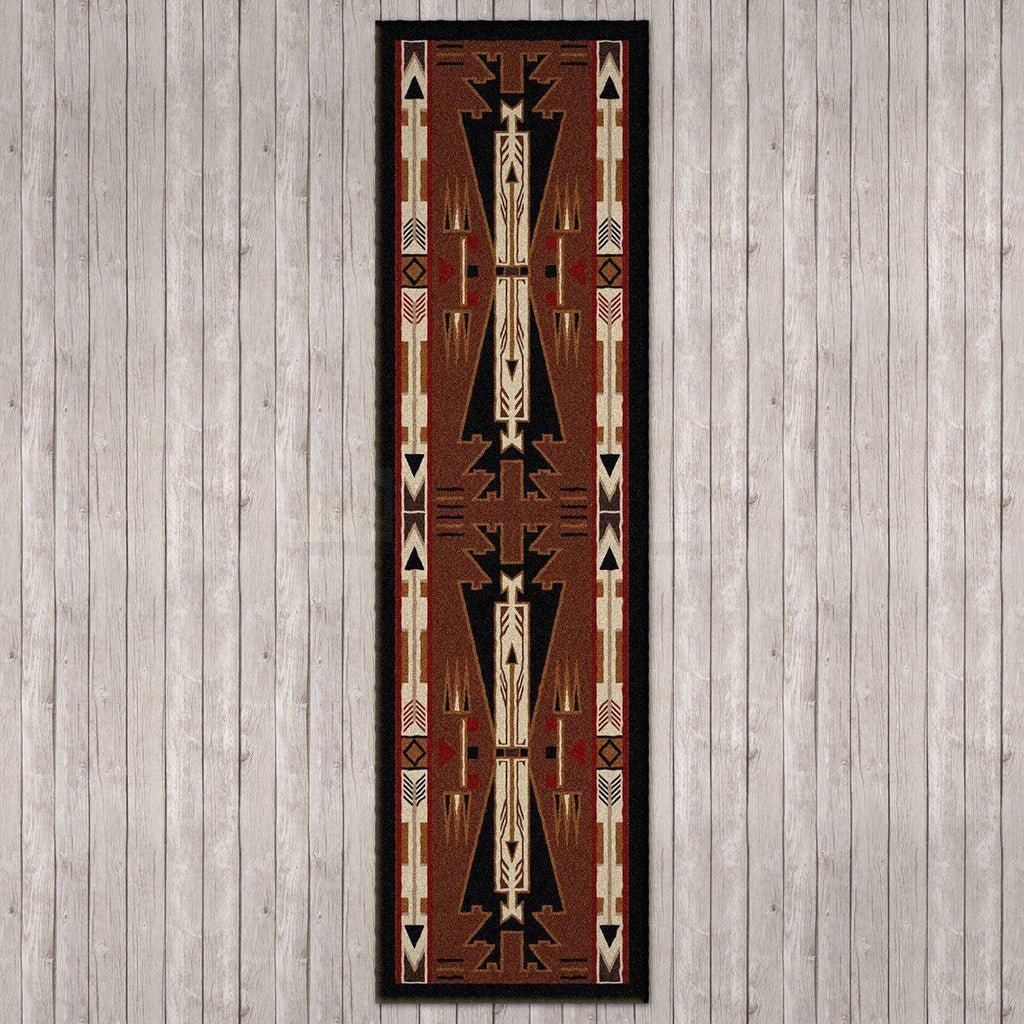 Desert Vandals - Brown-CabinRugs Southwestern Rugs Wildlife Rugs Lodge Rugs Aztec RugsSouthwest Rugs