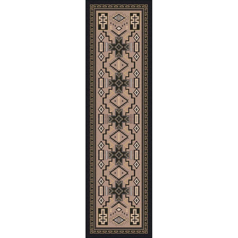 Double Cross - Sandman-CabinRugs Southwestern Rugs Wildlife Rugs Lodge Rugs Aztec RugsSouthwest Rugs