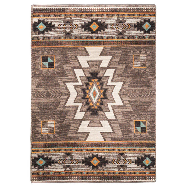 End Of The Barrel - Worn Saddle-CabinRugs Southwestern Rugs Wildlife Rugs Lodge Rugs Aztec RugsSouthwest Rugs
