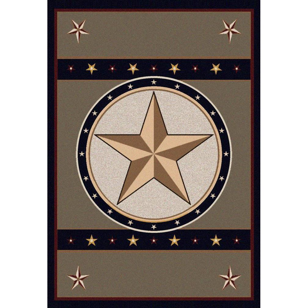 Epic Star - Green-CabinRugs Southwestern Rugs Wildlife Rugs Lodge Rugs Aztec RugsSouthwest Rugs
