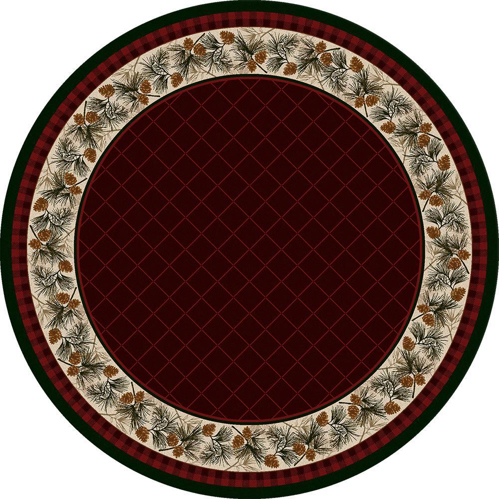 Forever Green - Garnet-CabinRugs Southwestern Rugs Wildlife Rugs Lodge Rugs Aztec RugsSouthwest Rugs