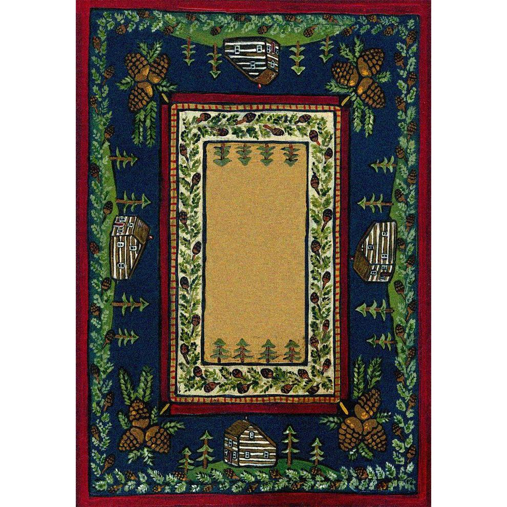 Going Through The Pines-CabinRugs Southwestern Rugs Wildlife Rugs Lodge Rugs Aztec RugsSouthwest Rugs