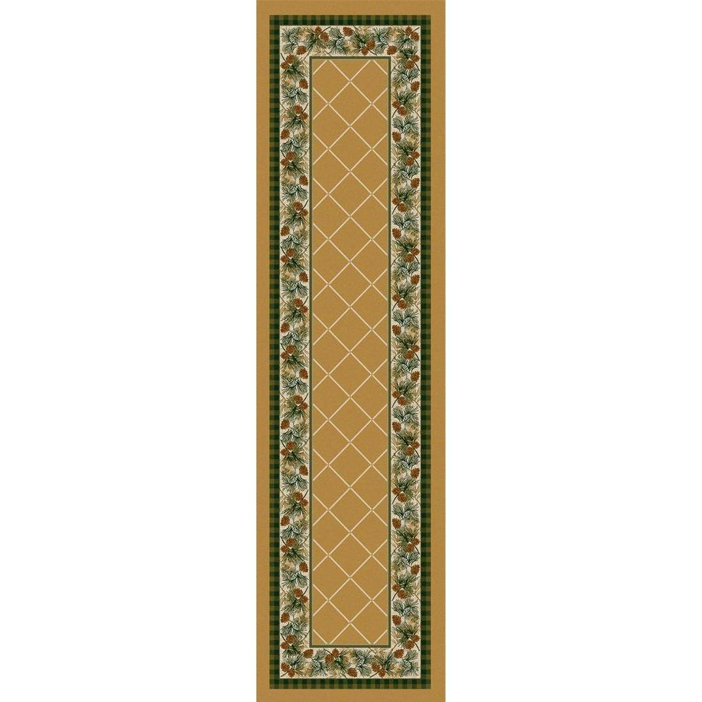 Green Forest - Light Maize-CabinRugs Southwestern Rugs Wildlife Rugs Lodge Rugs Aztec RugsSouthwest Rugs