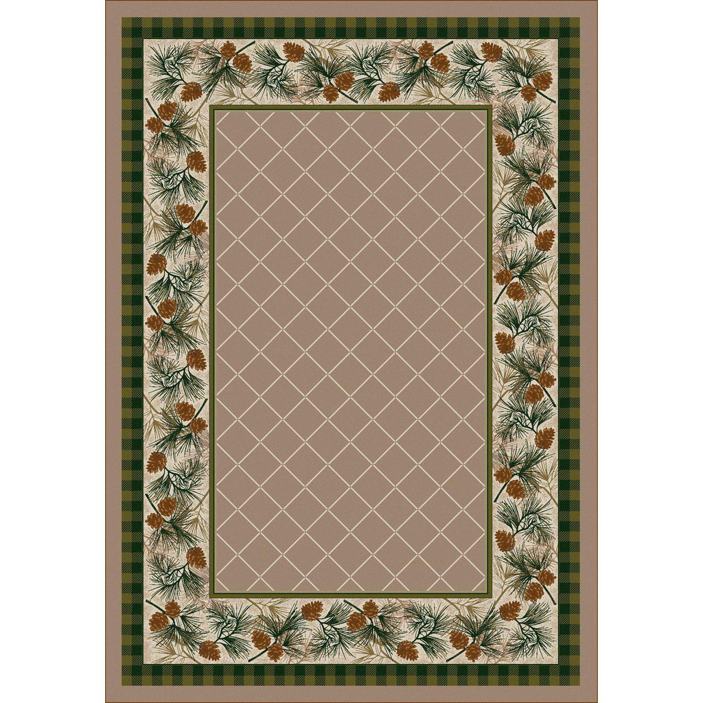 Green Forest - Light Sandstone-CabinRugs Southwestern Rugs Wildlife Rugs Lodge Rugs Aztec RugsSouthwest Rugs