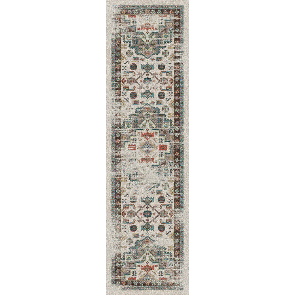 Hanging Gardens OKA - Light Distressed-CabinRugs Southwestern Rugs Wildlife Rugs Lodge Rugs Aztec RugsSouthwest Rugs