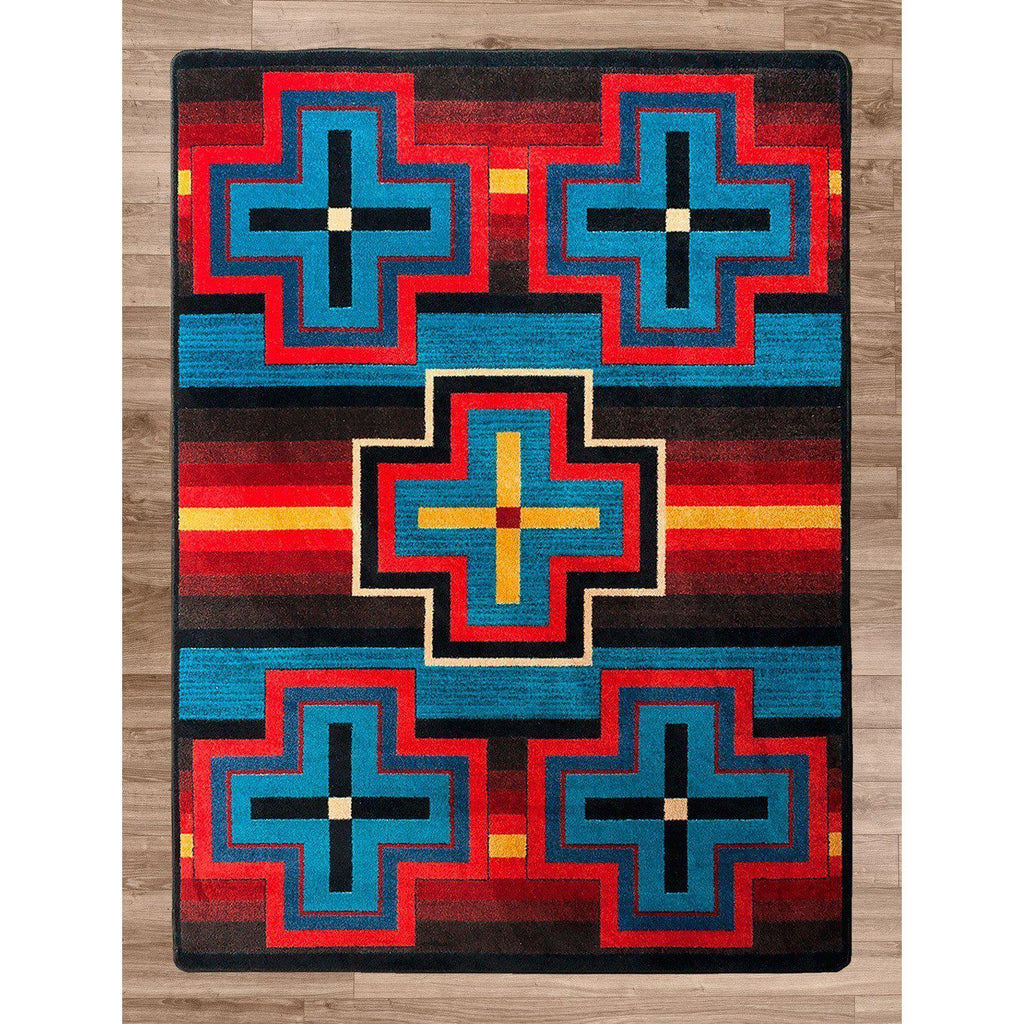 Hunter - Bright-CabinRugs Southwestern Rugs Wildlife Rugs Lodge Rugs Aztec RugsSouthwest Rugs
