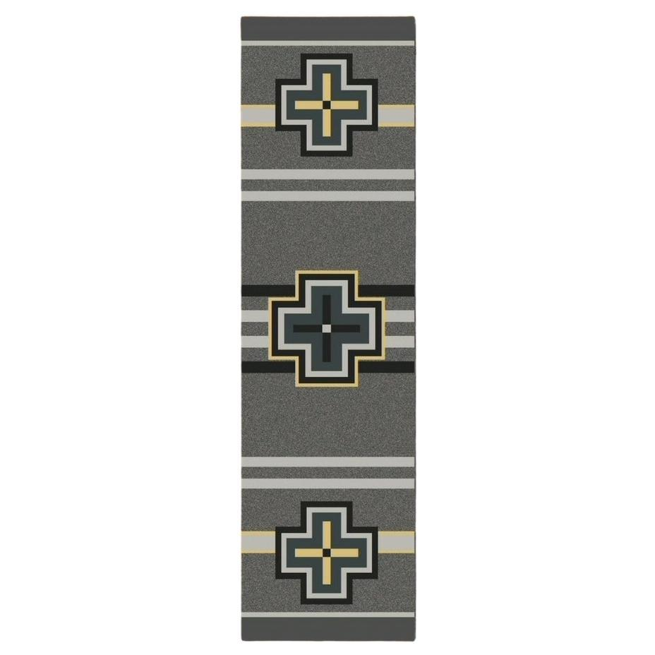 Hunter - Gray-CabinRugs Southwestern Rugs Wildlife Rugs Lodge Rugs Aztec RugsSouthwest Rugs