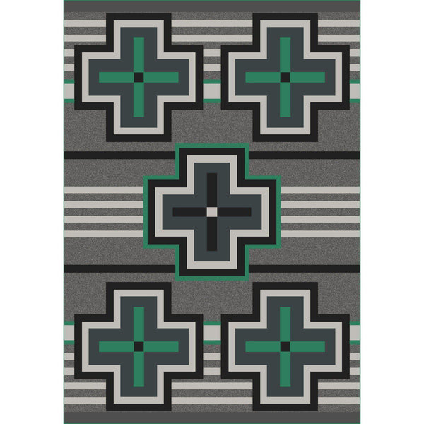 Hunter - Jade-CabinRugs Southwestern Rugs Wildlife Rugs Lodge Rugs Aztec RugsSouthwest Rugs