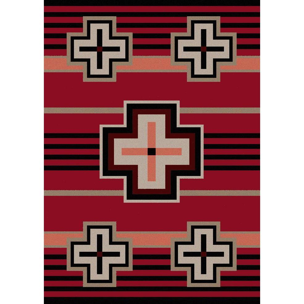 Hunter - Red-CabinRugs Southwestern Rugs Wildlife Rugs Lodge Rugs Aztec RugsSouthwest Rugs