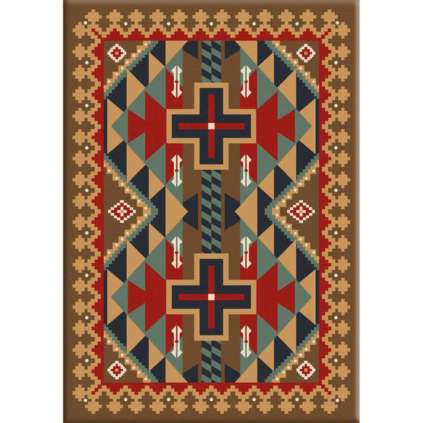 Keep It In The Tribe-CabinRugs Southwestern Rugs Wildlife Rugs Lodge Rugs Aztec RugsSouthwest Rugs