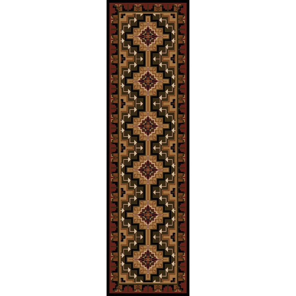 Land Of The Hills - Red-CabinRugs Southwestern Rugs Wildlife Rugs Lodge Rugs Aztec RugsSouthwest Rugs