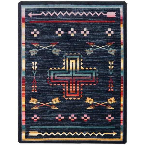 Legends Of The Desert - Grey-CabinRugs Southwestern Rugs Wildlife Rugs Lodge Rugs Aztec RugsSouthwest Rugs