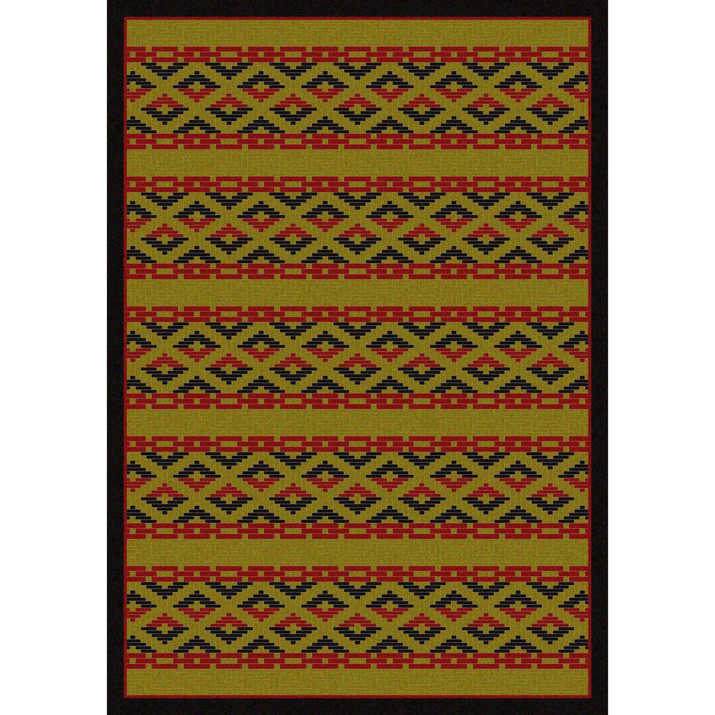 Mother's Basket - Dark Chocolate-CabinRugs Southwestern Rugs Wildlife Rugs Lodge Rugs Aztec RugsSouthwest Rugs